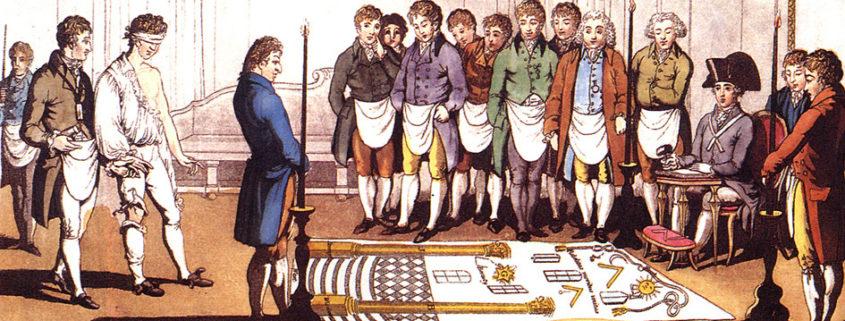 Banquet maçonnique en France, vers 1840